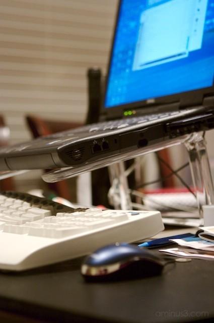 dell laptop ergonomic setup
