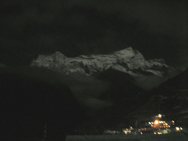 Namche Bazaar at night
