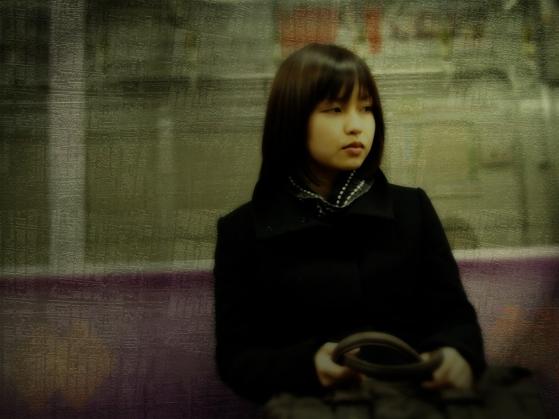 kyoto train portrait urban japan japanese