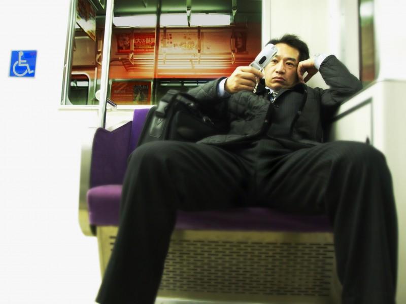japan guy kyoto train subway portrait