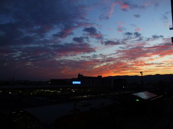 kyoto eki sunset