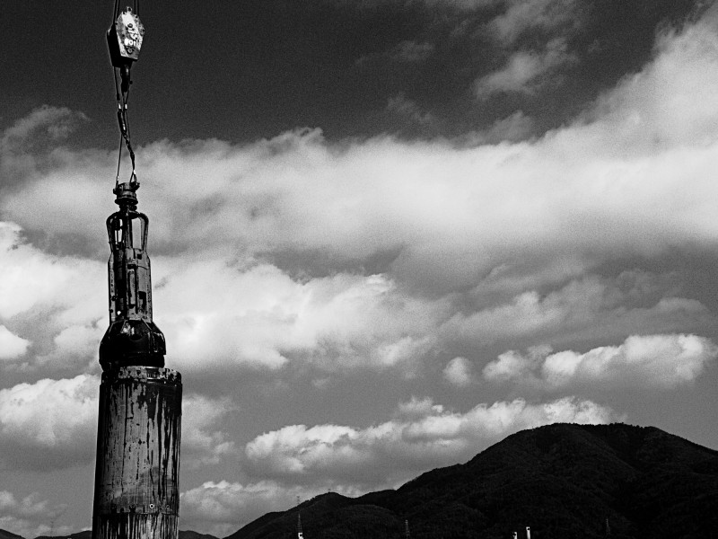 crane kameoka city japan