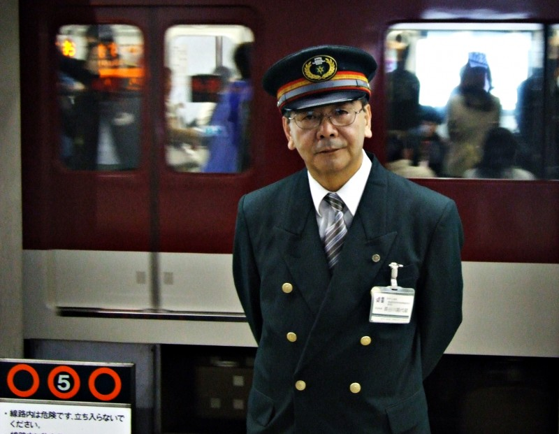japan guy kyoto train subway portrait