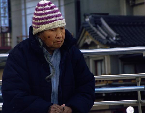 homeless kyoto japan portrait