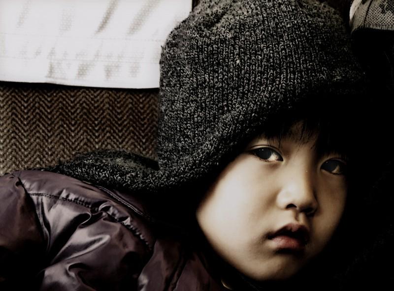 japan girl kyoto train subway portrait