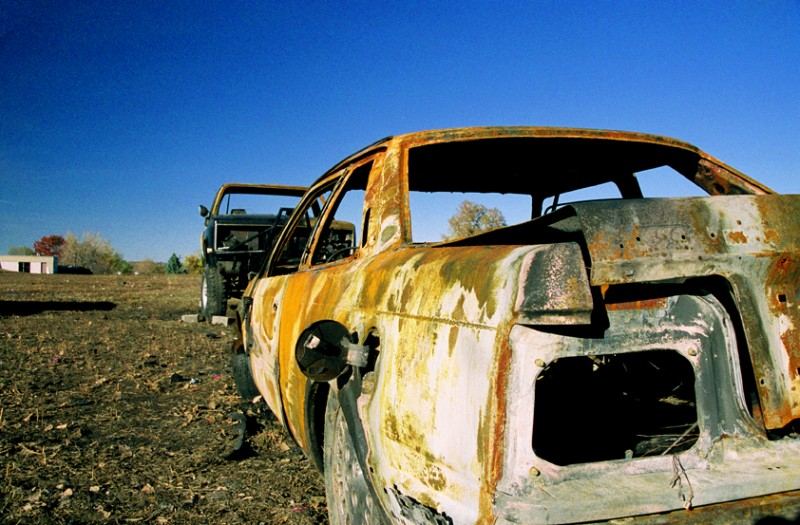 Burned Out Cars