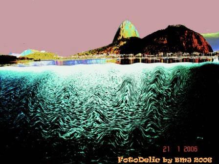 Waves at the Botafogo Beach