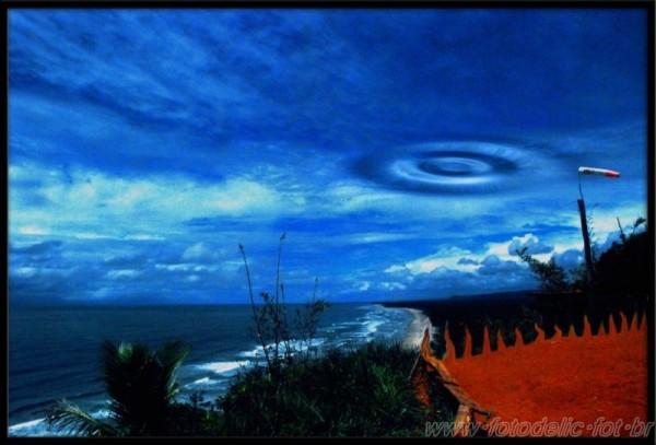 a sky with a sea