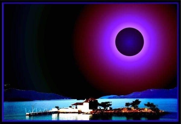 a black sun