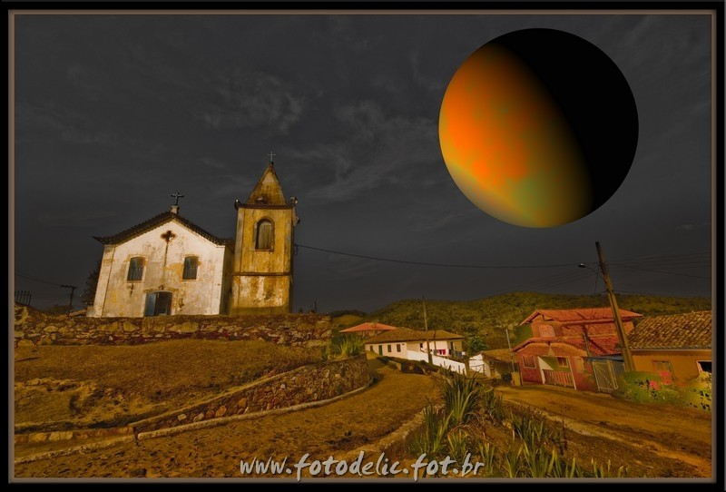 a church and a planet