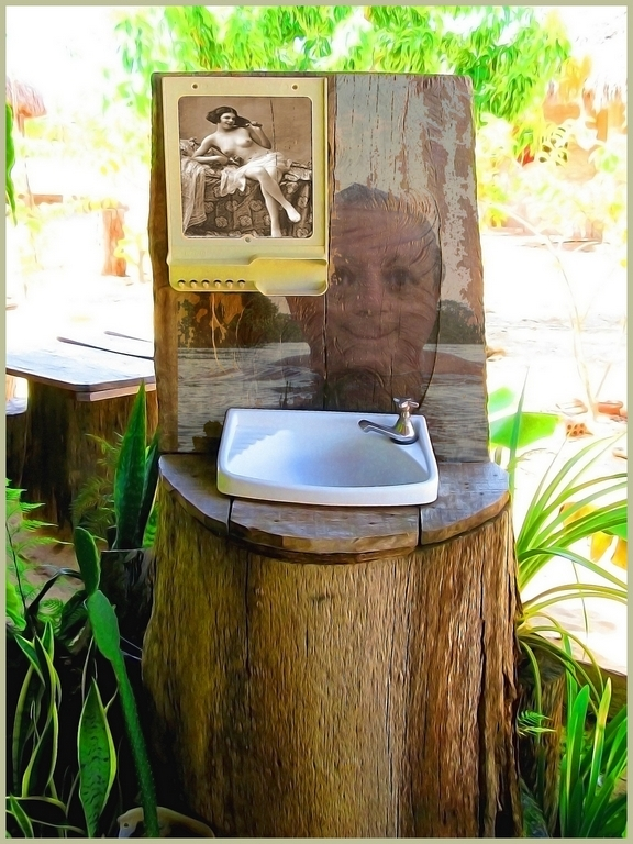 a sink