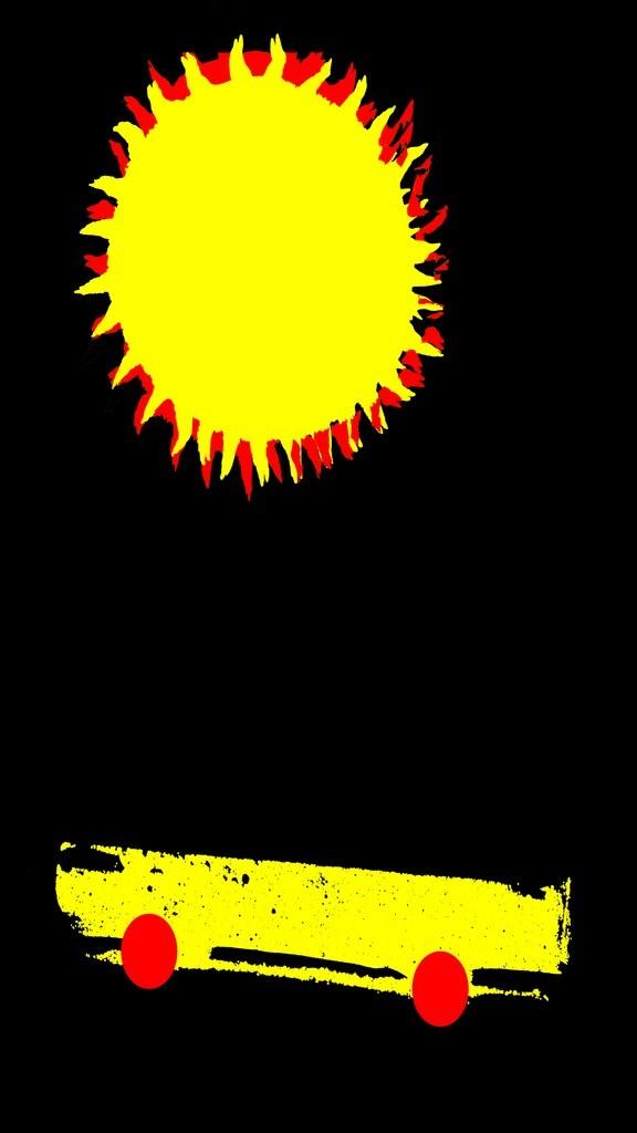 a car and a sun