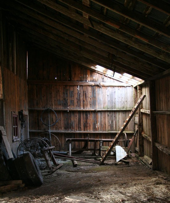 Inside a old barn