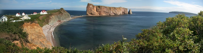 Panoramic view of Rocher Percé