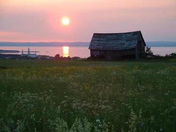 Sunset in Trois-Pistoles, Quebec, Canada