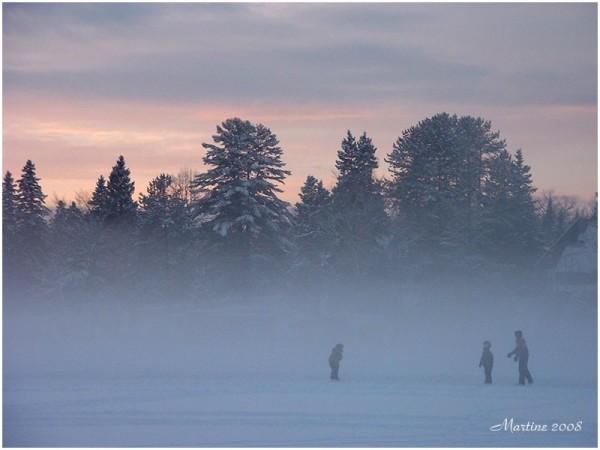 Fog on the lake - Brume sur le lac
