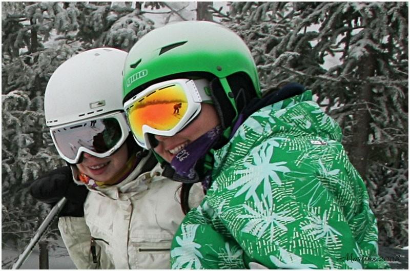 Les skieuses - The skiers