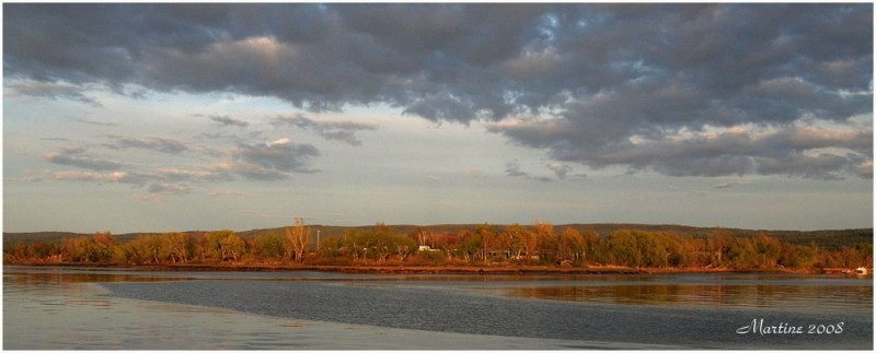 Shore of Montmagny at the sunset