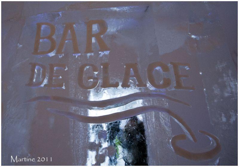 Bar de glace - Ice bar