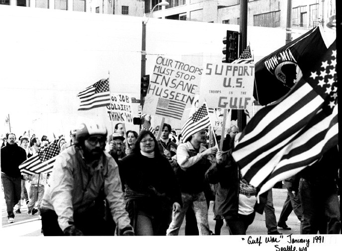 gulf war demonstration seattle wa