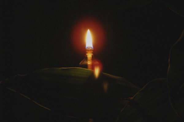 Reflected flame