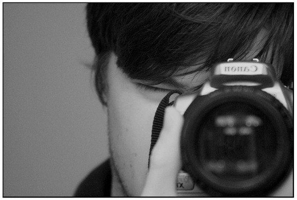 wint3r black & white self portrait