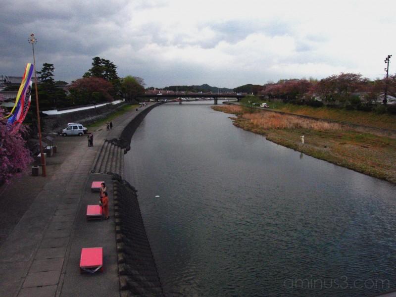 river wind clouds