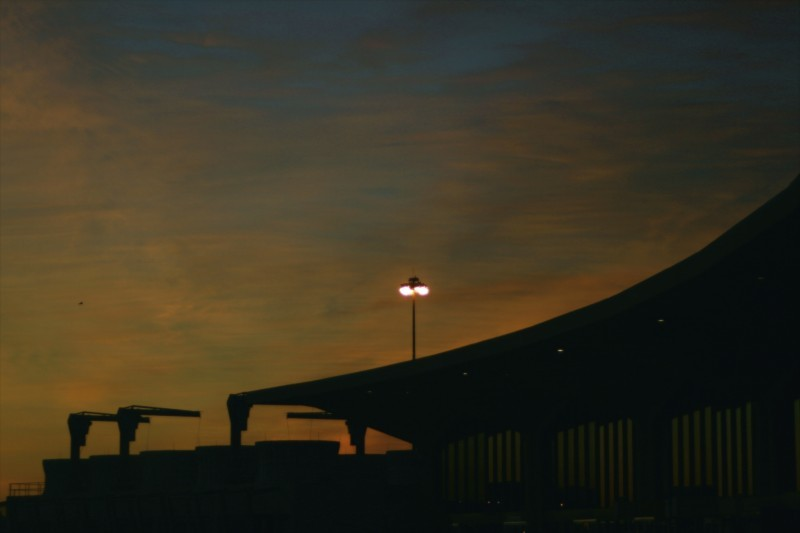 Sunrise over Newark International
