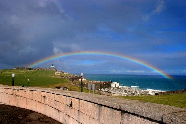 Rainbow over El Morro