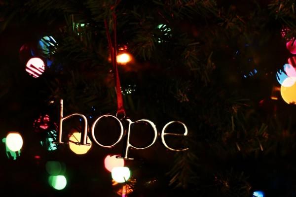 hope Christmas ornament