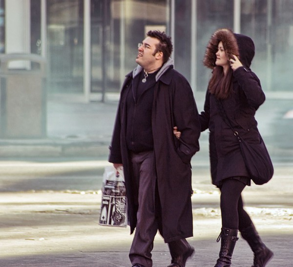 A Couple Dressed in Black