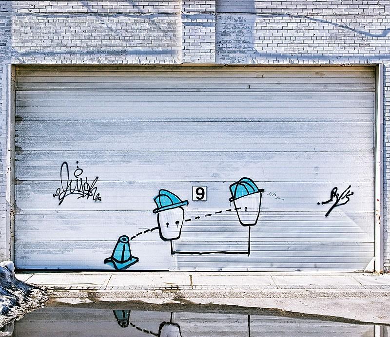 Graffiti on Garage Door
