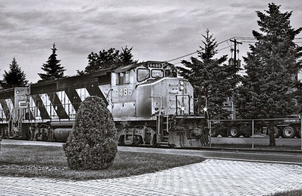 Train Pulling into Station