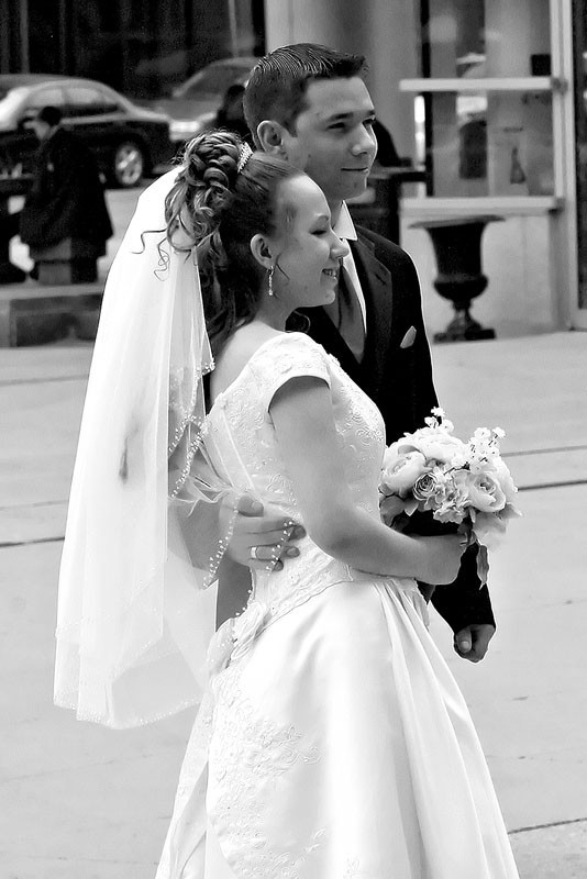 Young Couple Married B/W