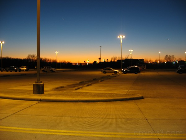 Sunset at the park and ride