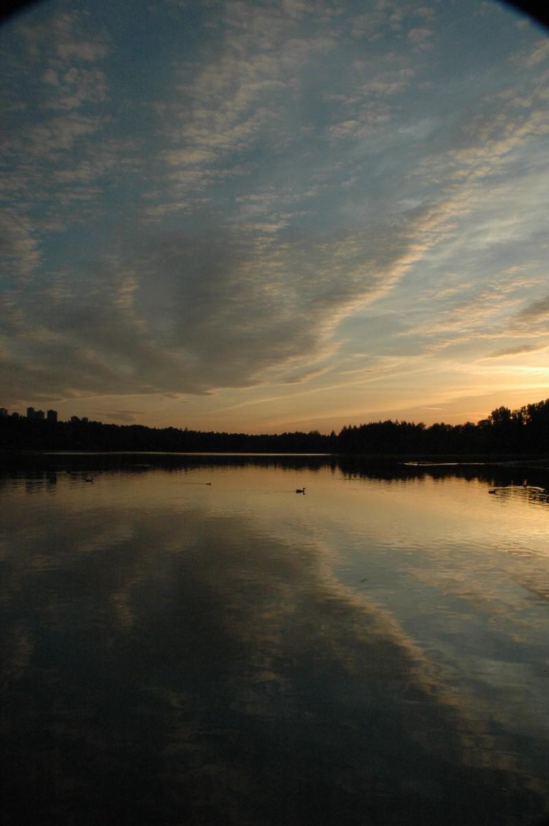 sunset, deer lake, photography
