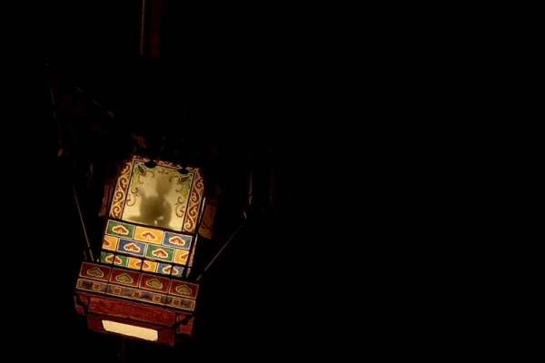 Paper lantern at Buddhist lantern exhibit