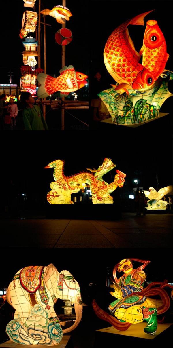 Buddhist paper lantern montage