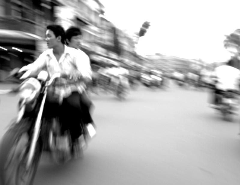 Motorbike in Phnom Penh, Cambodia