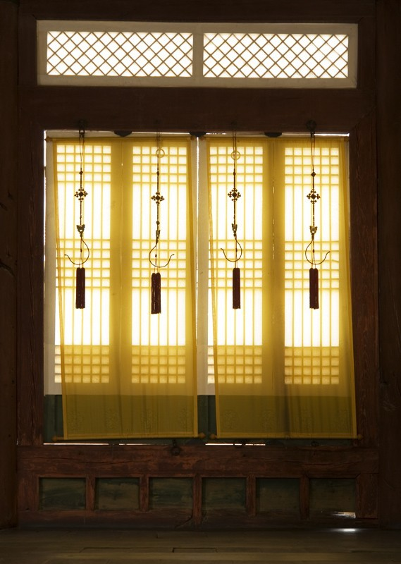 Palace Curtains, Gyeongbukgun Palace, Seoul, Korea