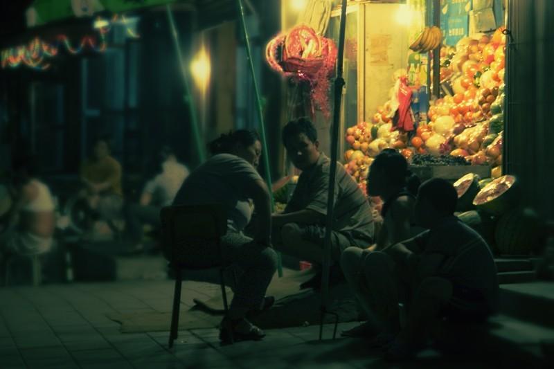 Night fruit market, Beijing, China