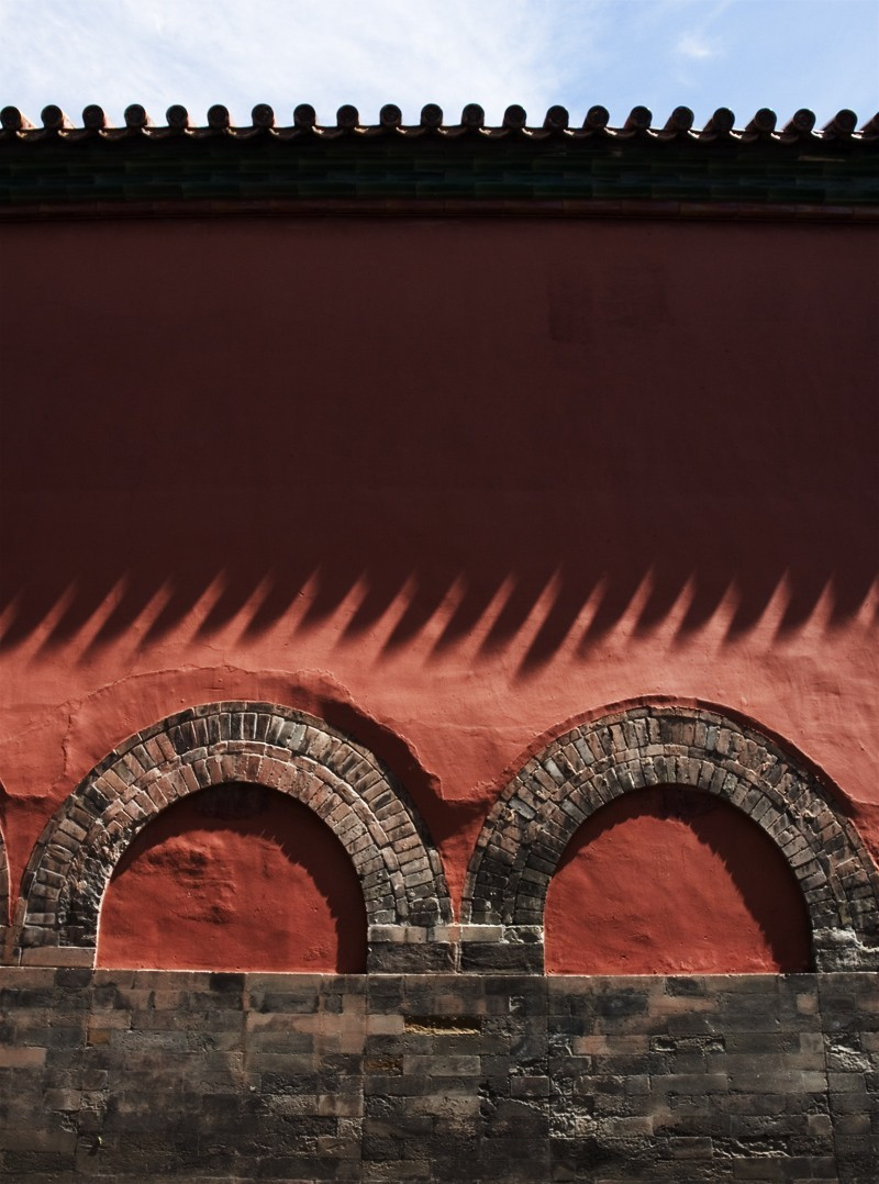 Wall shadows, Forbidden City