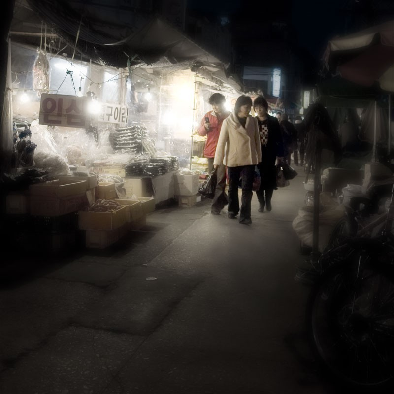 Nakseongdae market Seoul Korea
