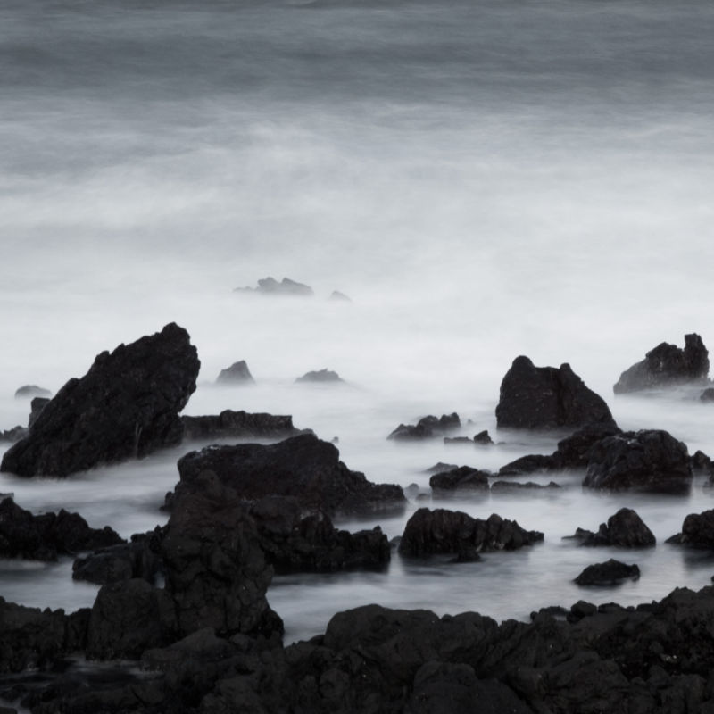 Wave abstraction, Jeju Island, Korea