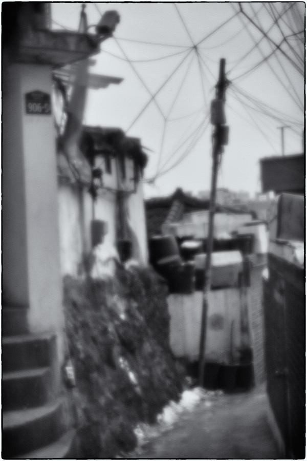 my neighborhood as seen through a pinhole lens