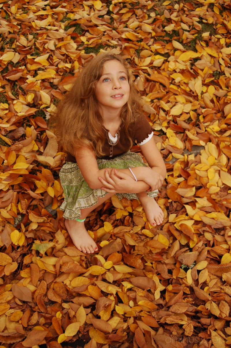 Girl in Leaves