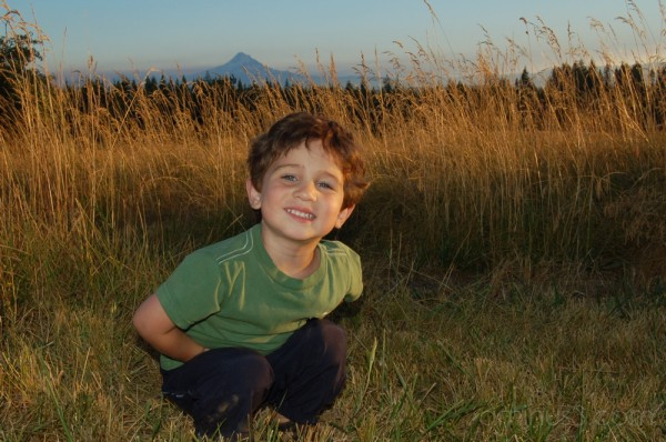 Child in Sunset/Mt. Hood