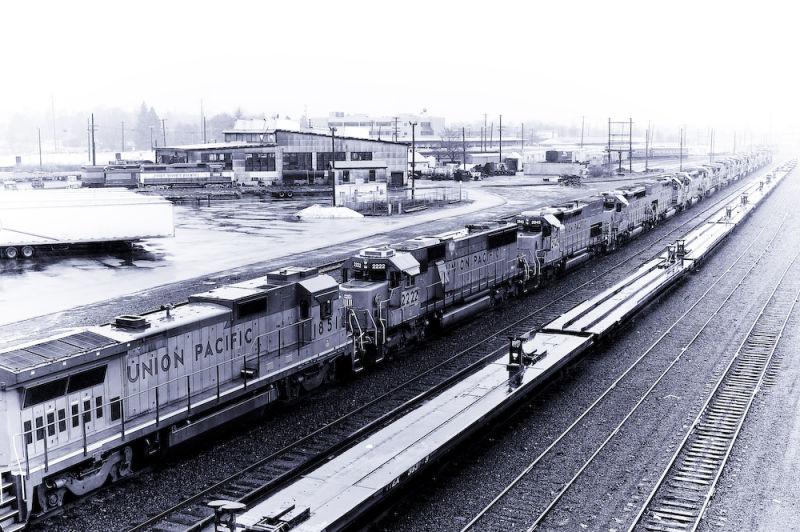 Union Pacific Engines In Portland Oregon