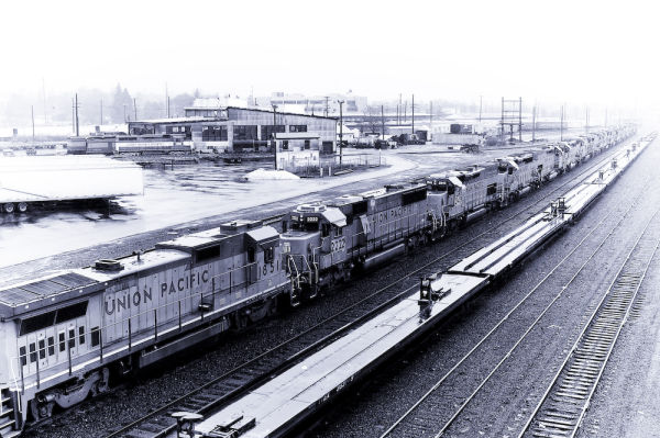 Union Pacific Engines In Portland Oregon