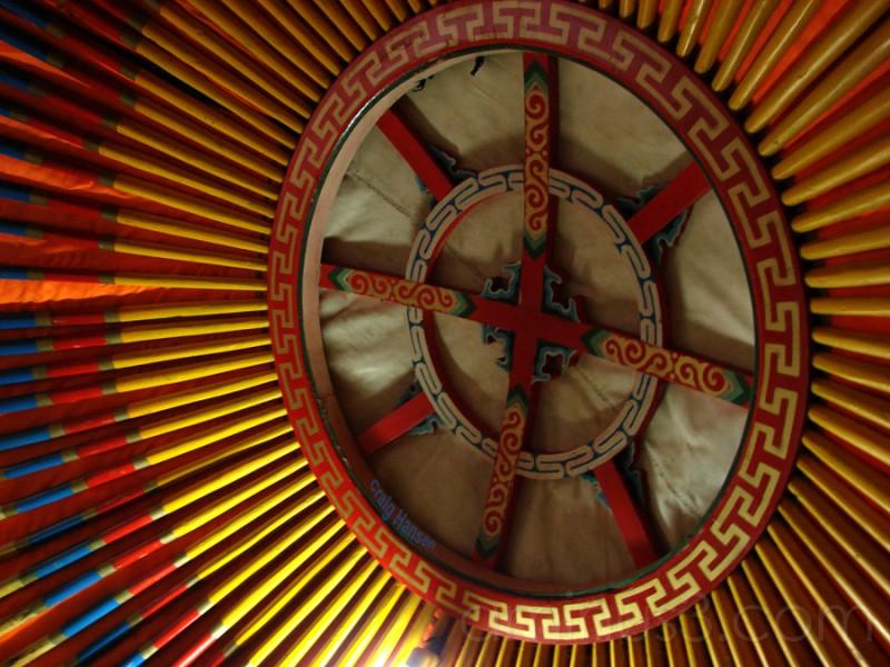 Inside The Yurt - Inner Mongolia - 2006